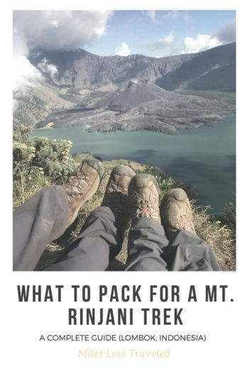 A Complete Guide for What To Pack For a Mt. Rinjani Trek