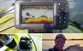 Installing a depth finder on a kayak