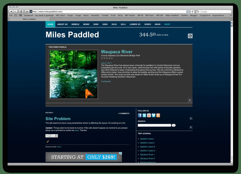 Miles Paddled 2009-2011