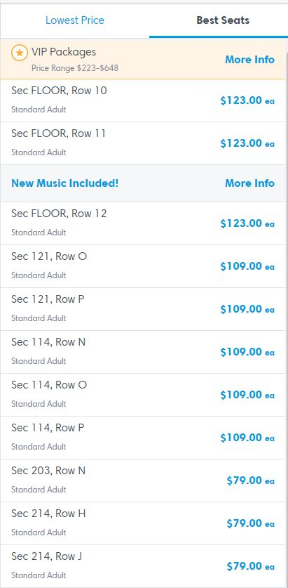 Why concert ticket list price matters - Miles per Day