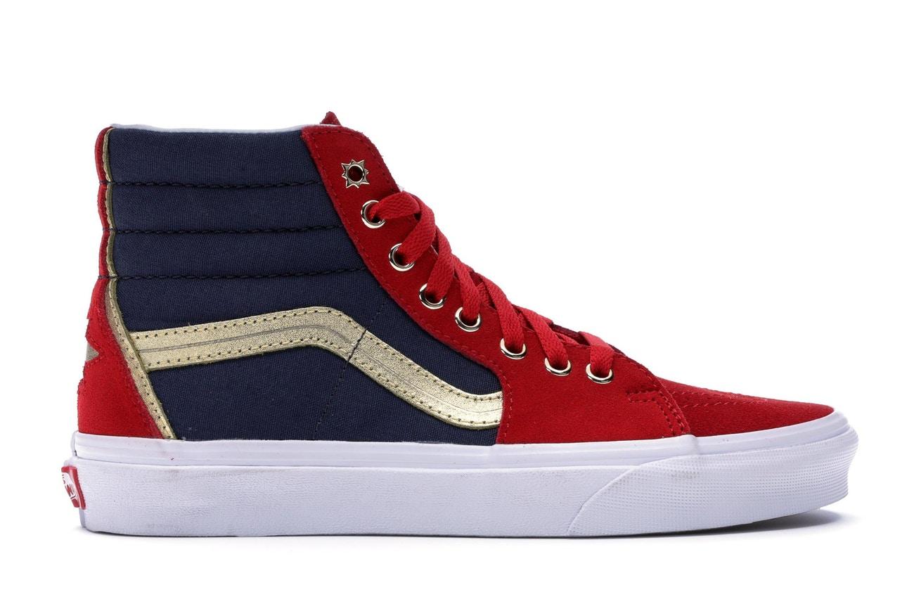 those Captain Marvel Vans shoes