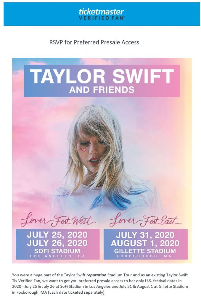 Taylor Swift Tour Dates 2020.Why I Am Passing On Taylor Swift S 2020 Lover Stadium Shows