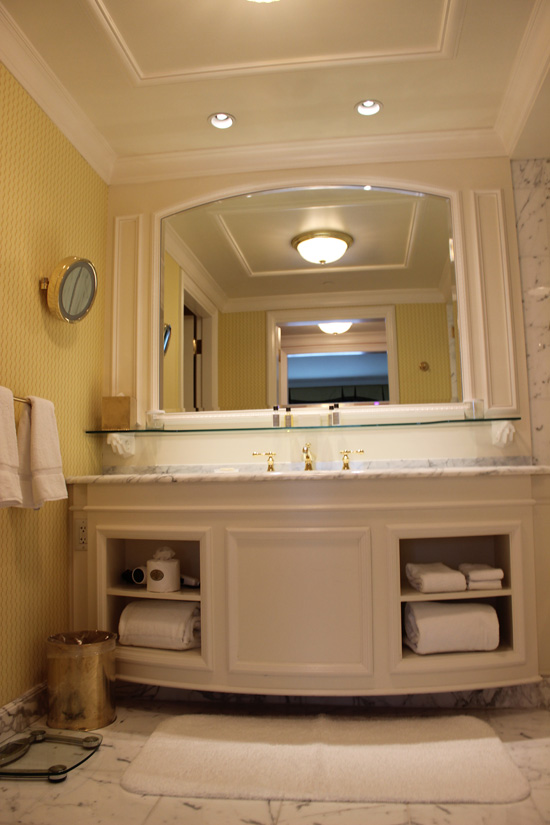 View of the vanity