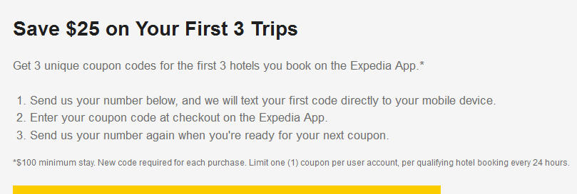 $25 off $100 at Expedia