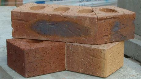cut and bonded brick shapes