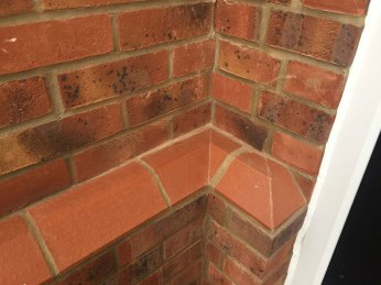 picture of cut and bonded plinth bricks