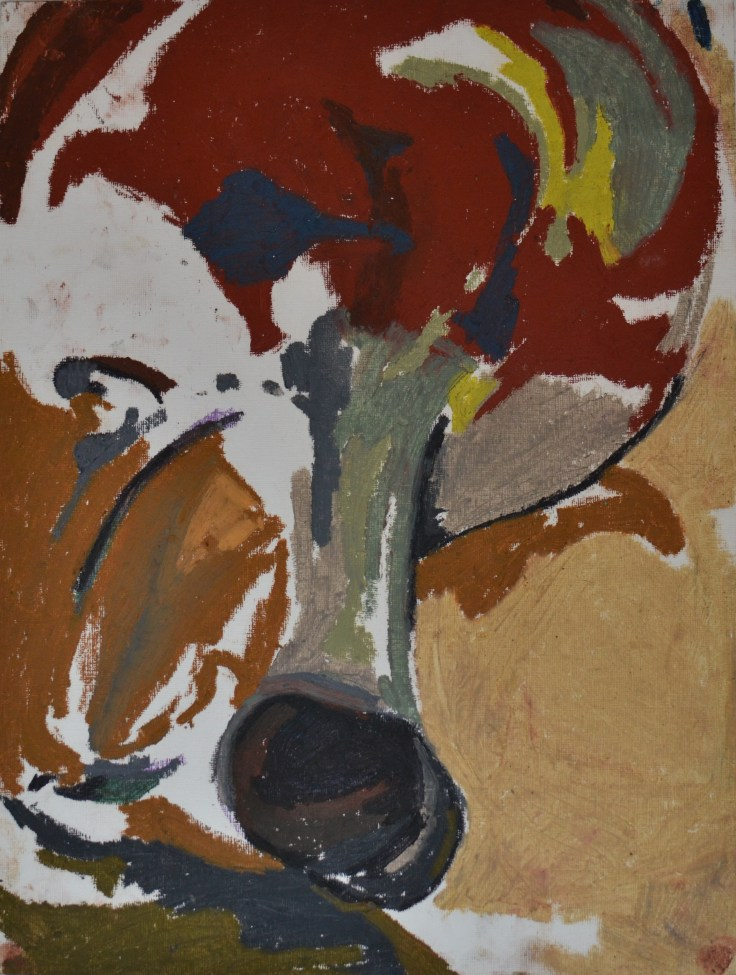 """The vase"", 2012 Oil pastel on paper 30.5x40.5cm"