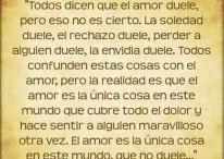 Todos dicen que el amor duele