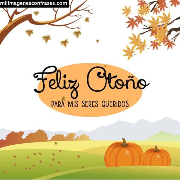 imagen tarjeta feliz otoño
