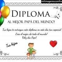 Diploma al mejor papá del mundo para imprimir