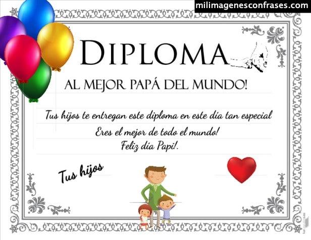 Diplomas día del padre