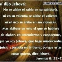 Imágenes Cristianas: Jeremías 9:23-24