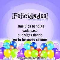Imágenes de cumpleaños con frases de Dios te bendiga