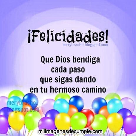 felicidades Dios bendiga