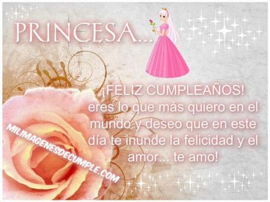 princesa feliz cumpleaños