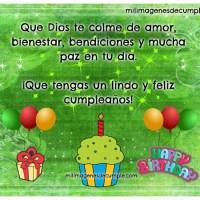 Que tengas un lindo y feliz cumpleaños (cristiano)