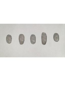 Five Thumb Prints Of A Famous Artist