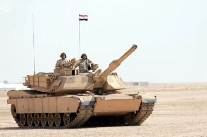 "An Egyptian Army M1A1 during ""Northern Thunder"""