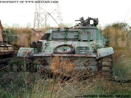 A Lebanese Army AMX-13 VCI wreck