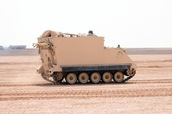 "A Royal Saudi Land Force M577A1 during ""Northern Thunder"""