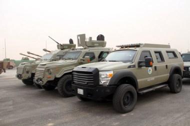 """Royal Saudi Border Guards Gurkha MPV & RPV along with Ford F550 during """"Northern Thunder"""""""