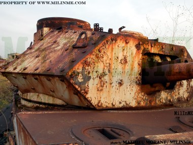 The remains of a Lebanese Army Staghound Mk III