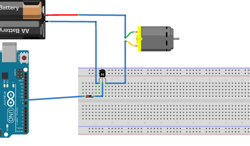 motor DC with driver to arduino