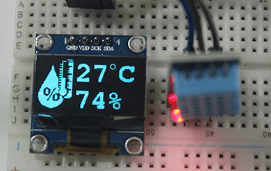 DHT11 with OLED display (DIY thermometer)