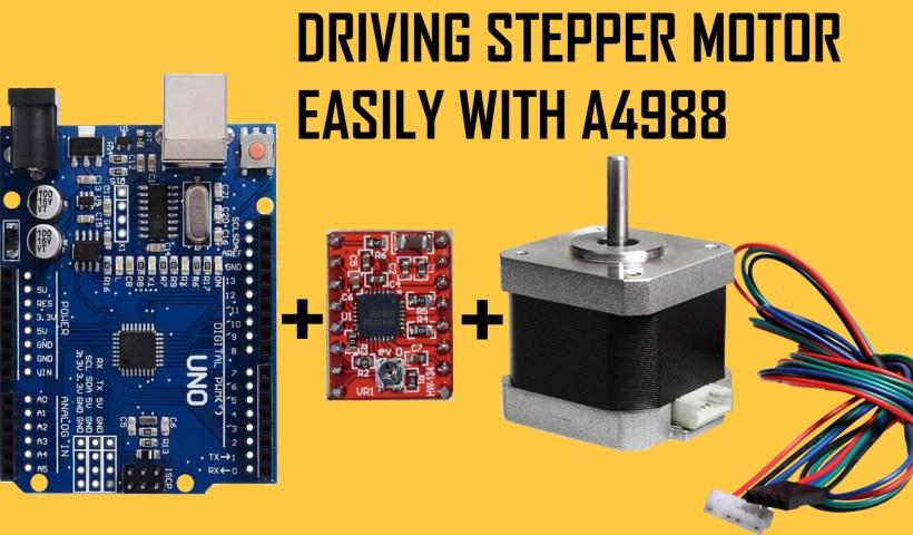 A4988 stepper motor arduino