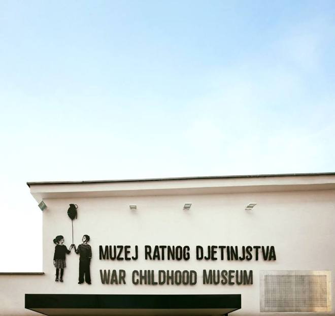 Front of the War Childhood Museum. Picture from the museum's collection.