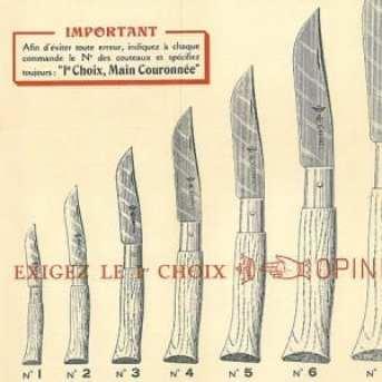 Noże Opinel, reklama z 1897 roku