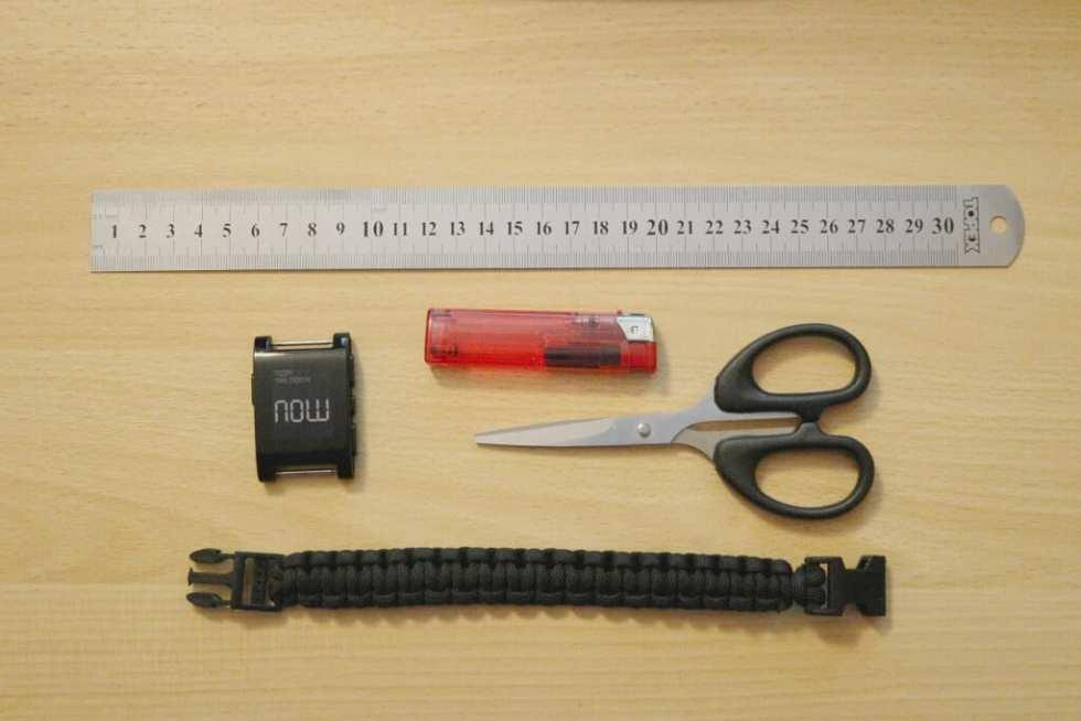 narzędzia, jak zrobić bransoletę z paracordu do zegarka