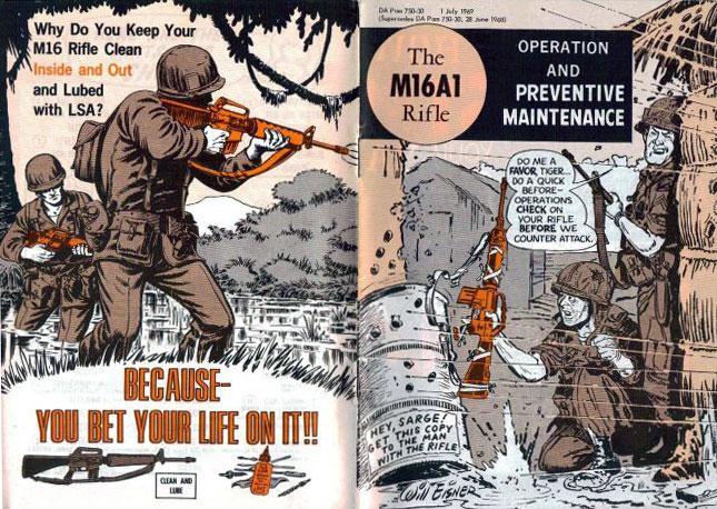 M16A1 komiksowa instrukcja