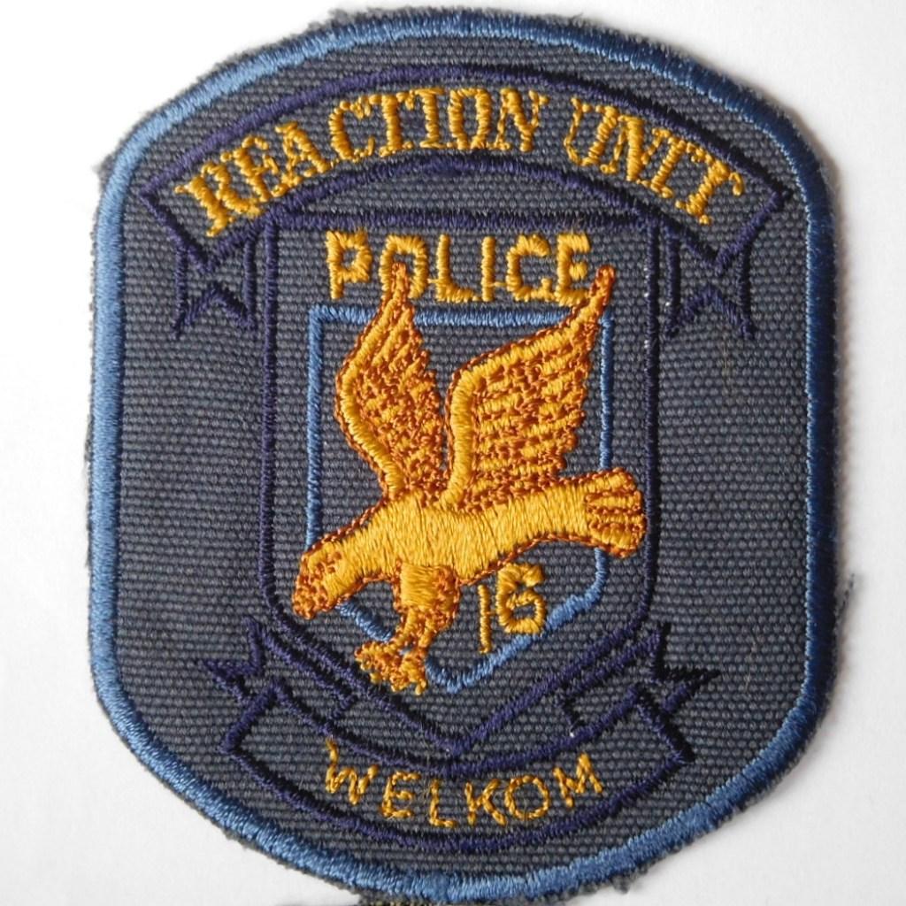 SAP South Africa Police 16 Reaction Unit WELKOM Arm Cloth Badge BLUE