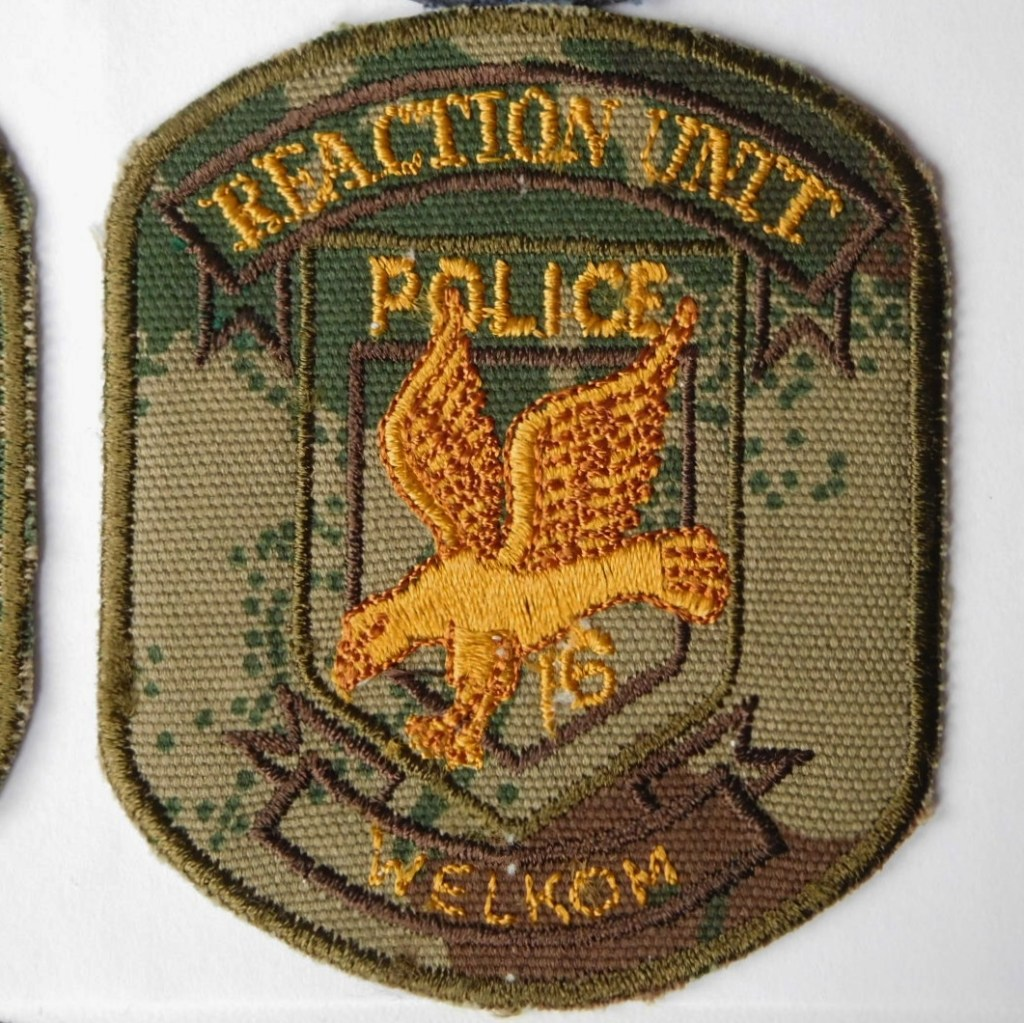 SAP South Africa Police 16 Reaction Unit WELKOM Arm Cloth Badge CAMO