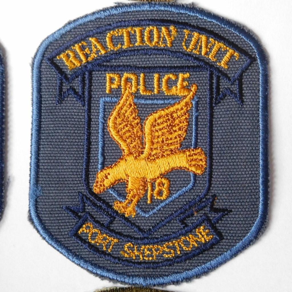 SAP South Africa Police 18 Reaction Unit PORT SHEPSTONE Arm Cloth Badge BLUE