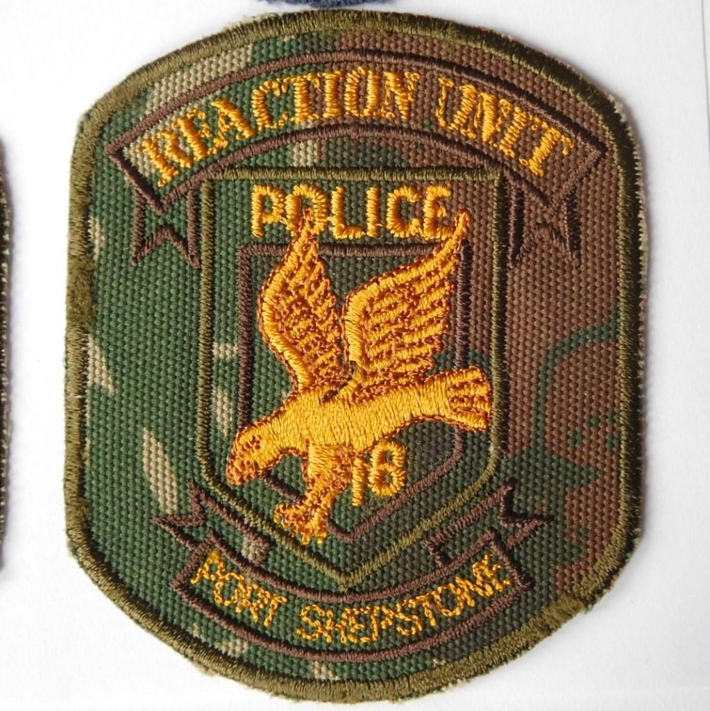 SAP South Africa Police 18 Reaction Unit PORT SHEPSTONE Arm Cloth Badge CAMO