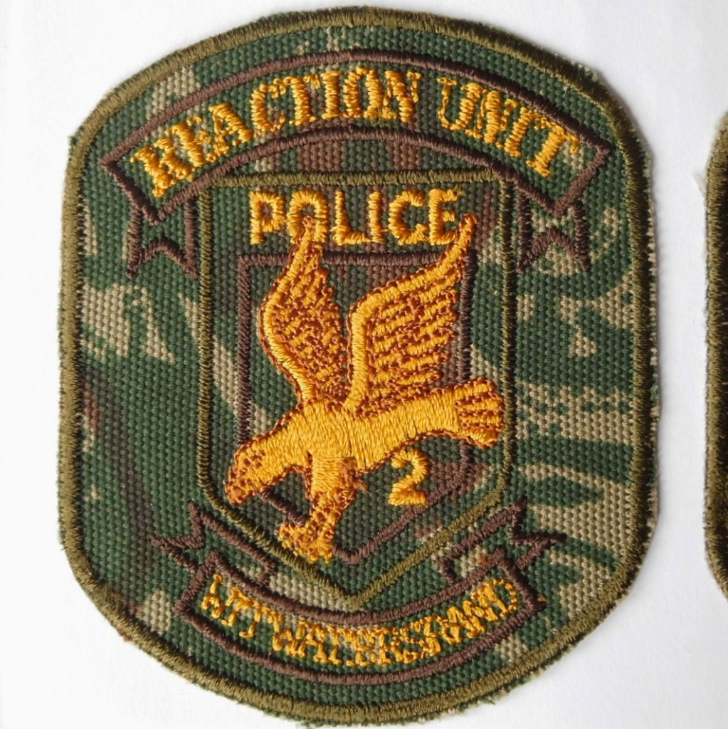 SAP South Africa Police 2 Reaction Unit WITWATERSTRAND Arm Cloth Badge CAMO
