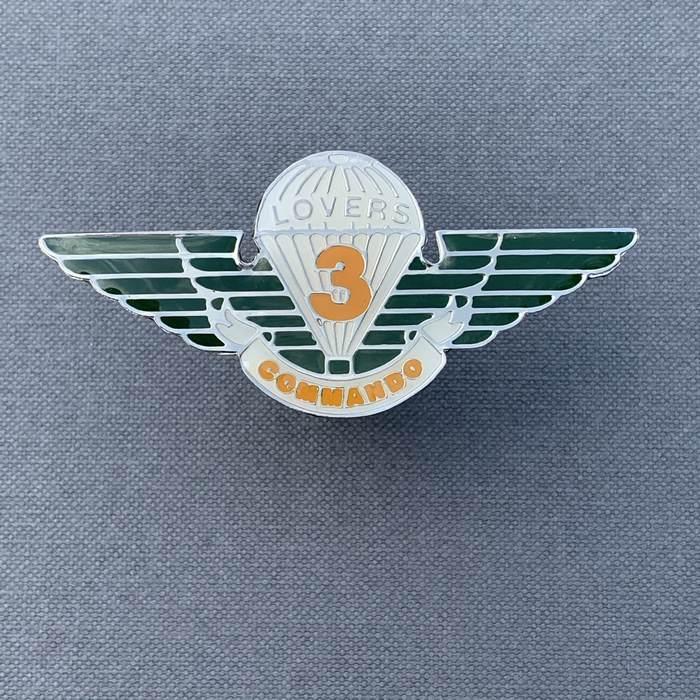 Africa RLI Rhodesia Light Infantry Commando Lovers parachute wing Steel Enamel W