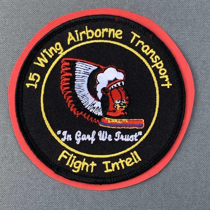 Belgium Belgian Air Force Indian Badge Patch 15 Wing Tenacity Transport GARF