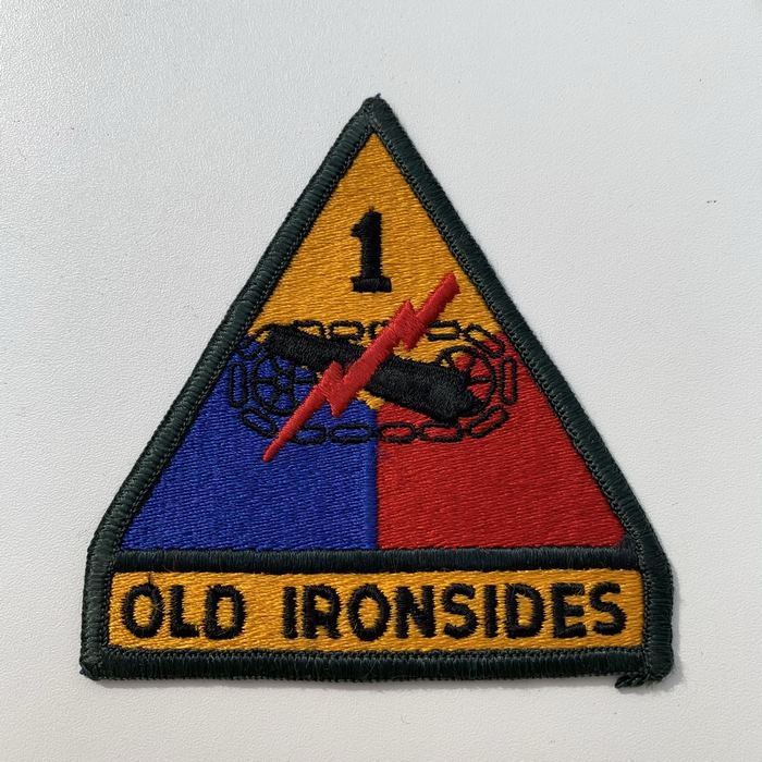US United States OLD IRONSIDES 1 Armoured Centre ARMY Kentucky Cloth Badge Patch