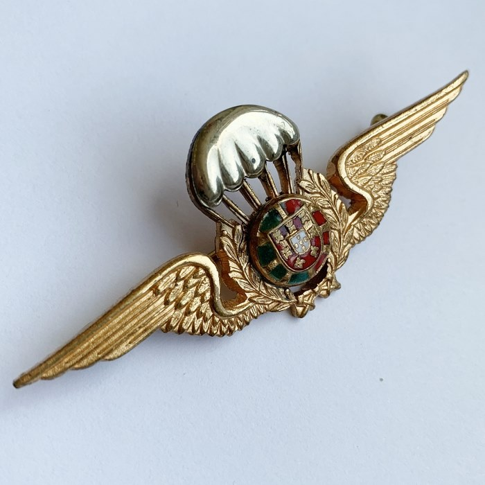 Portugal Mozambique Parachute Qualification Para Wing Badge Insignia Type II