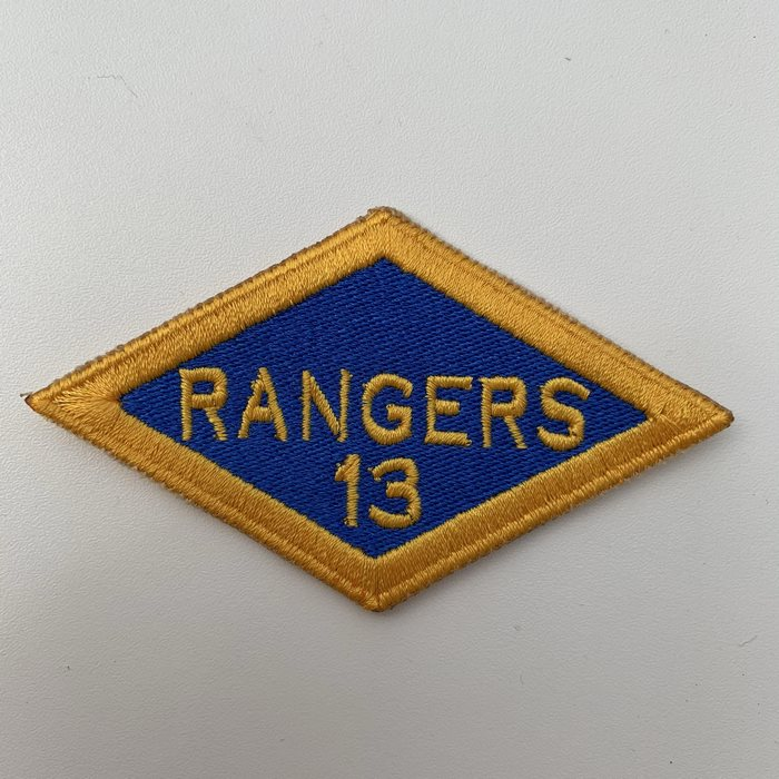 US United States WW2 13th Rangers Battalion ARMY Shoulder Diamond Badge Patch