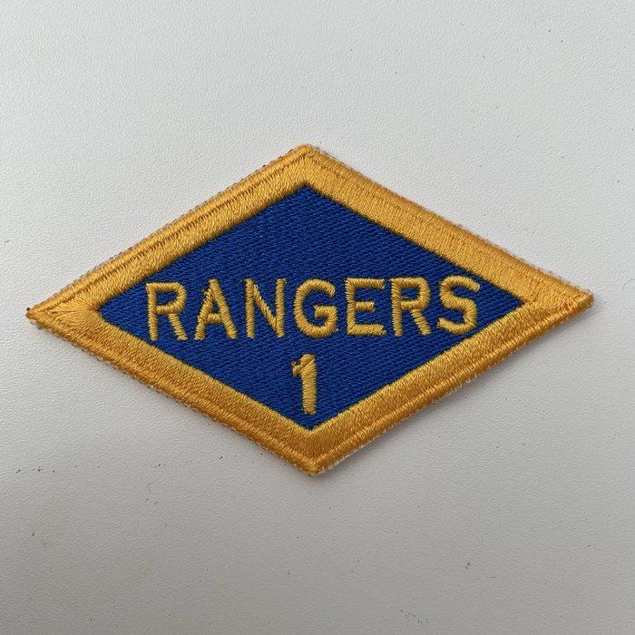 US United States WW2 1 Rangers Battalion ARMY Shoulder Diamond Badge Patch
