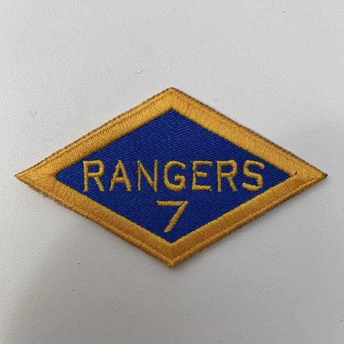 US United States WW2 7th Rangers Battalion ARMY Shoulder Diamond Badge Patch