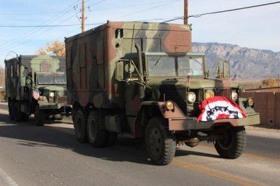 Camo truck in parade