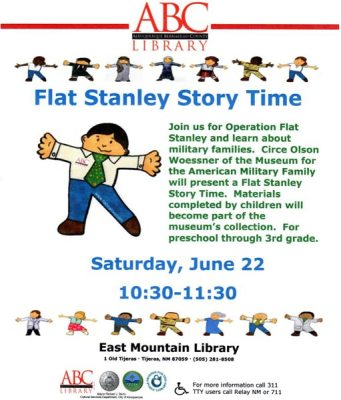 Flat Stanley Story Time Poster