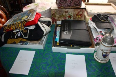 Photo of artifacts on table