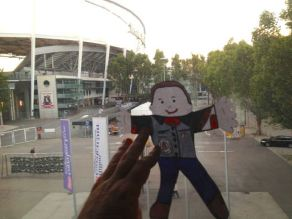 Flat Stanley at airport