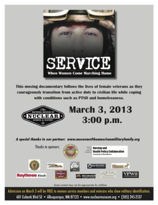 Poster: Service When Women Come Marching Home